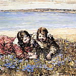 Эдвард Хорнел - Hornel_Edward_Atkinson_Gathering_Flowers_By_The_Seashore