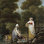 Christen Schiellerup Købke - Two Maid-Servants at a Brook