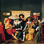 Dirck Hals - A musical party