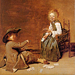 Dirck Hals - Children playing cards