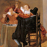 Dirck Hals - Merry company with fiddle player Sun