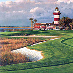 Linda Hartough - hallowed ground csg003 harbor town golf links 18th hole