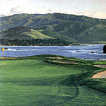 Linda Hartough - hallowed ground csg024 pebble beach 17th hole