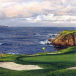Linda Hartough - hallowed ground csg023 pebble beach 8th hole