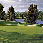 Linda Hartough - hallowed ground csg015 laurel valley 18th hole