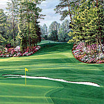 Linda Hartough - hallowed ground csg030 augusta national 6th hole
