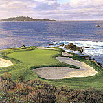 Linda Hartough - hallowed ground csg022 pebble beach 7th hole