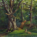 Woodland Scene with Rabbits
