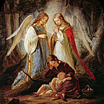 Theodor Leopold Weller - The guardian angels