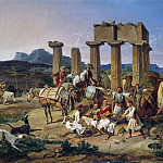 Carl Blechen - Smugglers before the temple of Corinth