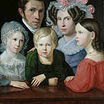 Carl Blechen - Self Portrait with his Family