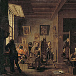 Axel Jungstedt - A Painter's Studio [Attributed]