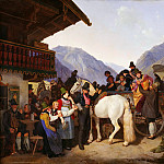Karl Friedrich Schinkel - St. Leonards Festival in Fischhausen on Schliersee in Bavaria