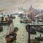 Anton von Werner - The port of Hamburg