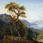 Caroline Bardua - Tyrolean Landscape with Cattle and Shepherd