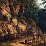 Alte und Neue Nationalgalerie (Berlin) - Forest landscape with warriors