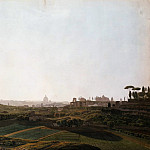 Ernst Hoffmann - View of Rome from the Southeast