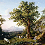 Anton Graff - Arcadian Landscape with Apollo