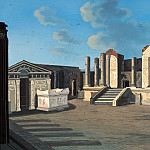Carl Blechen - Temple of Isis in Pompeii