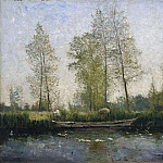 Christen Schiellerup Købke - Seine. Motif from St Germain