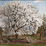 Christen Schiellerup Købke - Apple Tree in Blossom