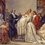 Adolf Holzel - The baptism of a son of the Great Elector on the Sparenburg