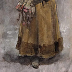 A Girl. Study for Valdemar Atterdag Holding Visby to Ransom