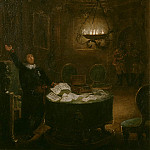 President Gustaf Adolf Reuterholm , opens the Armfeltska letters at Stockholm Castle in 1794