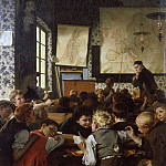 Friedrich August Von Kaulbach - Young Germany in school