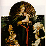 Hans The Younger Holbein - THE VIRGIN AND CHILD WITH THE FAMILY OF BURGOMASTER