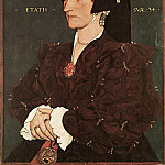 Hans The Younger Holbein - Portrait of Margaret Wyatt Lady Lee