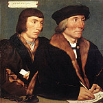 Hans The Younger Holbein - Holbien the Younger Double Portrait of Sir Thomas Godsalve and His Son John