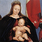 Hans The Younger Holbein - The Solothurn Madonna detail