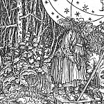 Hans The Younger Holbein - Holbein The Spinner, woodcut, Kupferstichkabinett, Staatlich