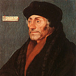 Hans The Younger Holbein - Holbein Erasmus of Rotterdam, oil on wood, Metropolitan Muse