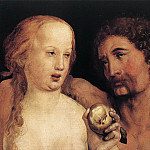 Hans The Younger Holbein - Adam and Eve