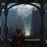 Carl Philipp Fohr - Knights castle in the moonlight