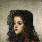 Alexei Alexeivich Harlamoff - Little Girl with Veil