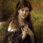 The dark haired beauty, Alexei Alexeivich Harlamoff