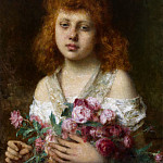 Alexei Alexeivich Harlamoff - Portrait of a Red-Haired Girl