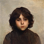 Alexei Alexeivich Harlamoff - Portrait of a Young Boy