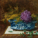 Still life with lilac and holly, Alexei Alexeivich Harlamoff