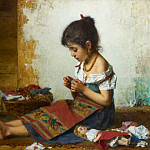 The little seamstress, Alexei Alexeivich Harlamoff