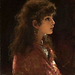 Young Girl In Profile, Alexei Alexeivich Harlamoff