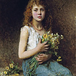 Alexei Alexeivich Harlamoff - Girl with spring flowers