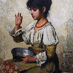 Alexei Alexeivich Harlamoff - Young girl blowing bubbles