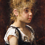 Alexei Alexeivich Harlamoff - Portrait of a Young Girl