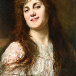 Auburn haired beauty, Alexei Alexeivich Harlamoff