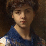 Portrait of a Young Girl, Alexei Alexeivich Harlamoff
