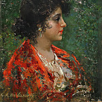 Portrait of a young lady, Alexei Alexeivich Harlamoff